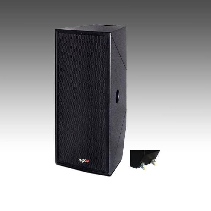 HXL225-Dual 15 inch 900W two way full range speaker with wheel